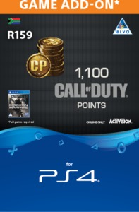 1,000 + 100 Bonus Call of Duty Points (CP) (PS4) - Cover