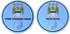 Manchester City - Sign With Hanging Hooks (Pack of 2)