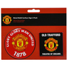 Manchester United - Multi Surface Metal Sign (Pack of 2)