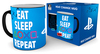 PlayStation - Eat Sleep Repeat Heat Changing Mug Cover