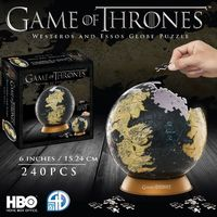 4D Cityscape - Game of Thrones Globe 6 inch 4D Puzzle (240 Pieces)