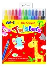 Amos - Twisters Retractable Crayons (Pack of 12)