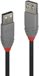 Lindy 2m Passive USB2.0 Extension Cable - Anthracite