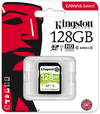Kingston Canvas Select 128GB SDHC Class 10 SD Memory Card UHS-I 80MB/s R Flash Memory Card