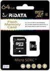 Ridata 64GB Micro SD Card and Adapter - Class 10