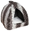 Rosewood - Pyramid Grey and Cream Snuggle Plush Bed