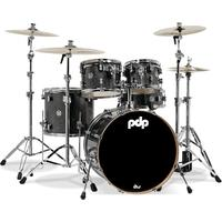 PDP New Yorker 4pc Acoustic Drum Kit - Onyx Sparkle Including Hardware Pack (10 13 18 13 Inch)