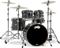 PDP New Yorker 4pc Acoustic Drum Kit - Onyx Sparkle Including Hardware Pack (10 13 18 13 Inch) - Cover