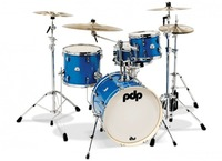 PDP New Yorker 4pc Acoustic Drum Kit -  Sapphire Including Hardware Pack (10 13 18 13 Inch)