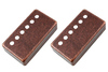 Allparts Electric Guitar 50mm String Spacing Humbucker Pickup Cover Set (Antique Bronze)