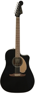 Fender Redondo Player Dreadnought Acoustic Electric Guitar (Jetty Black)