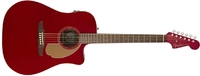 Fender Redondo Player Dreadnought Acoustic Electric Guitar (Candy Apple Red)