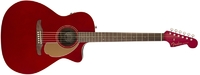 Fender Newporter Player Auditorium Acoustic Electric Guitar (Candy Apple Red)