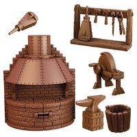 Mantic Games - Terrain Crate: Blacksmith's Forge (Miniatures) - Cover