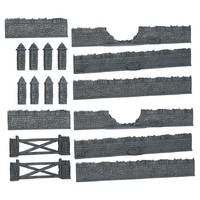 Mantic Games - Terrain Crate: Battlefield Walls (Miniatures) - Cover