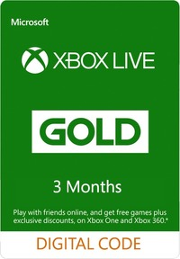 Xbox Live 3 Months Gold Membership (Xbox 360/Xbox One/Win 10/Windows 8.1/Windows Phone 8) - Cover