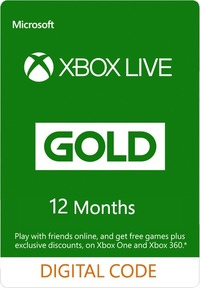 Xbox Live 12 Months Gold Membership (Xbox 360/Xbox One/Win 10/Windows 8.1/Windows Phone 8) - Cover