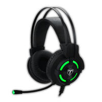 T-Dagger Andes Green Lighting Gaming Headset - Black/Green
