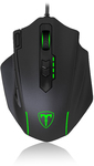 T-Dagger Major 8000 DPI Gaming Mouse with RGB backlighting - Black/Green