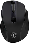 T-Dagger Corporal Wireless 2400 DPI Gaming Mouse - Black