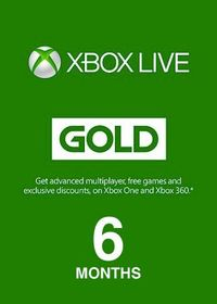 Xbox Live 6 Months Gold Membership (Xbox 360/Xbox One/Win 10/Windows 8.1/Windows Phone 8) - Cover