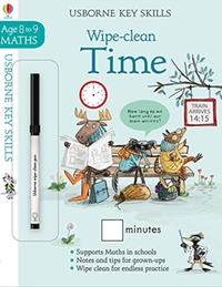 Wipe-Clean Time 8-9 - Holly Bathie (Paperback) - Cover