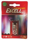 Excell - 9v Carbon Zinc Battery (1pc)