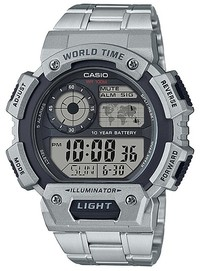 Casio Standard Collection Digital Wrist Watch - Silver - Cover