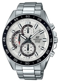 Casio Edifice Series Analogue Wrist Watch - Silver and White - Cover