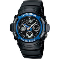 Casio G-Shock Series 200m Analogue and Digital Wrist Watch - Black and Blue