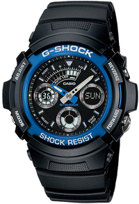 Casio G-Shock Series 200m Analogue and Digital Wrist Watch - Black and Blue - Cover