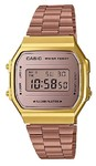 Casio Retro Series Digital Wrist Watch - Rose Gold and Gold