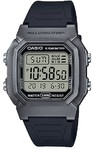Casio Standard Collection Digital Wrist Watch - Black and Silver Grey