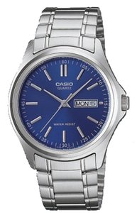 Casio Analogue Mens Wrist Watch - Silver and Blue - Cover