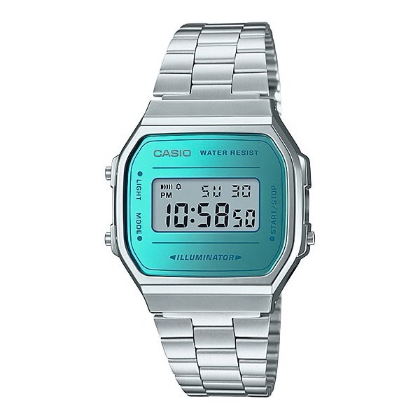 ba7a23bf0050 Casio Retro Series Digital Wrist Watch - Silver and Blue - Cover