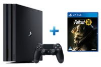 Sony PlayStation 4 Pro 1TB Console + Fallout 76 - Cover