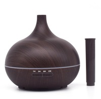 Crystal Aire - Fluted Aroma Diffuser - Dark Wood - Cover