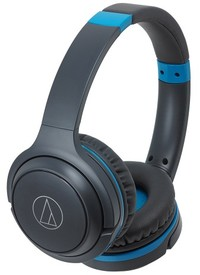 Audio Technica ATH-S200BT Wireless On-Ear Headphones (Black and Blue)