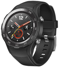 Huawei Watch 2 Classic Sport Strap Smartwatch - Black - Cover