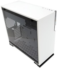 InWin - 101C White ATX Desktop Gaming Chassis Tempered Glass Side Panel RGB LED Front Panel