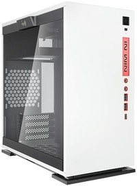 InWin - 301C White Micro ATX Desktop Gaming Chassis Tempered Glass Side Panel RGB LED Front Panel