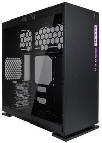 InWin - 303C Black ATX Desktop Gaming Chassis Tempered Glass Side Panel RGB LED Front Panel