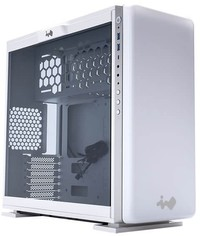 InWin - 307 White ATX Desktop Gaming Chassis Tempered Glass Side Panel Fully Customizable RGB LED Front Panel