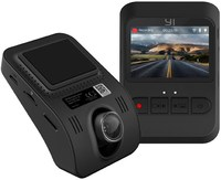 YI - Mini Smart Dash 1080P 2MP 165 Micro SD Slot Camera - Black