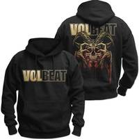 Volbeat Bleeding Crown Skull Men's Black Hoodie (Small) - Cover