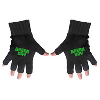 Green Day Logo Fingerless Gloves - Cover