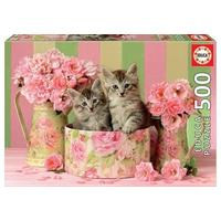 Educa - Kittens With Roses Puzzle (500 Pieces)