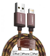Ugreen - 1m USB Lightning to USB Charging Cable - Dark Coffee