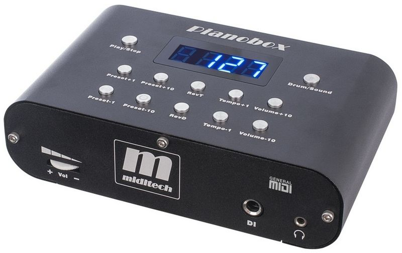 Miditech Pianobox Piano MIDI Sound Module (Black)