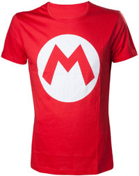 Nintendo - Mario Big M - Mens T-Shirt (Small) - Cover
